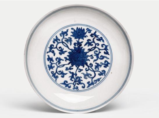 Porzellan-Schale mit Blauweiß-Dekor